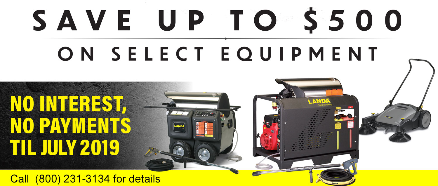 Save up to $500 on select equipment